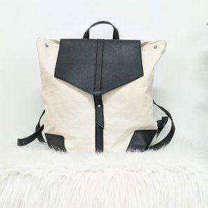 Deux Lux Cream & Black Demi Backpack